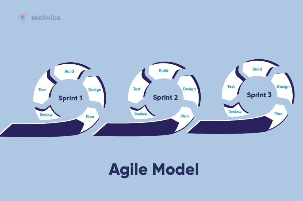 Development methodologies: schematic illustration of how the Agile Model works